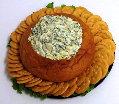 spinach dip and chips. Spinach Dip (cold)
